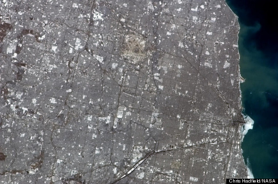 chicago photo from space