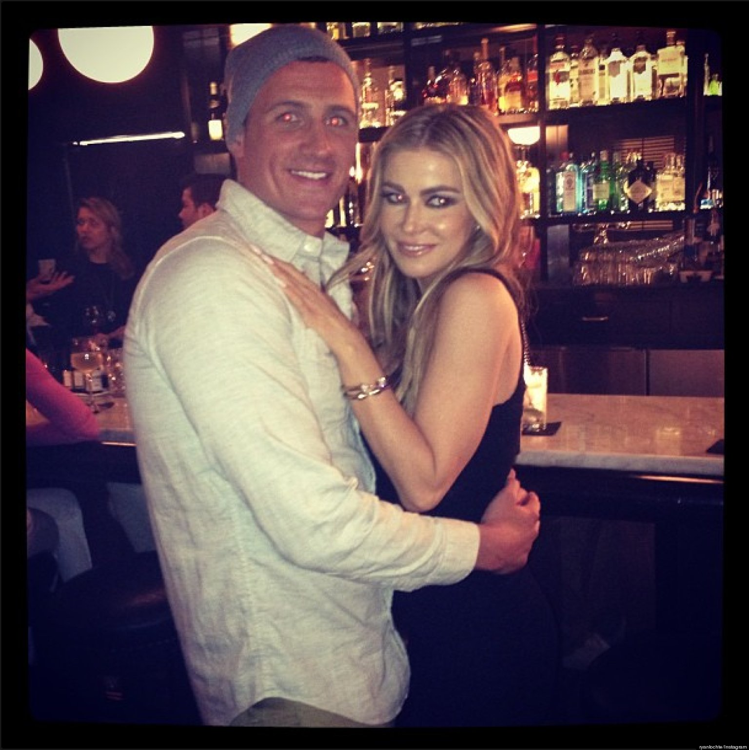 ryan lochte carmen electra a couple swimmer and