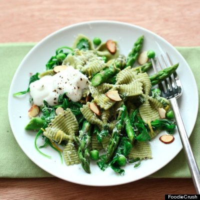 Penne With Ricotta And Asparagus Recipes — Dishmaps