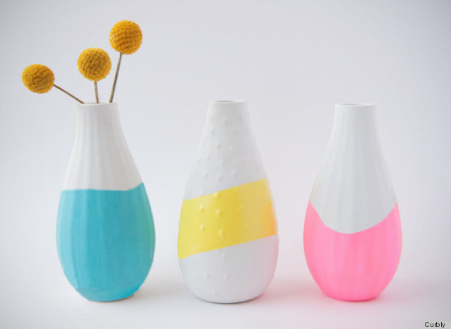 paint dipped vases