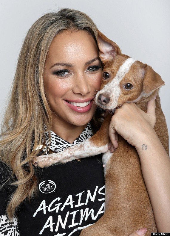 Leona lewis has fronted a body shop campaign to end animal testing on