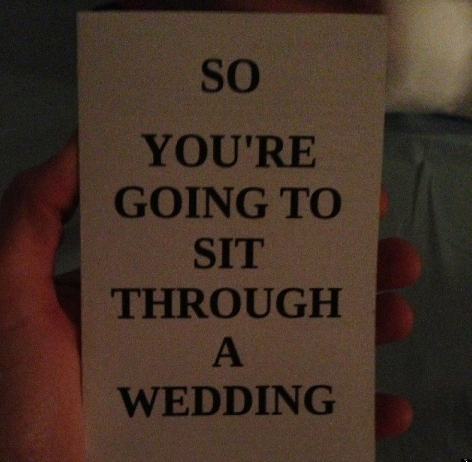 Wedding Program Hilariously Explains The Day's Events | HuffPost