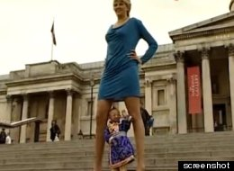 LOOK: Woman With World's Longest Legs Has A Surprise Neighbor