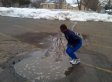 Huge Puddle Surprise: Guy Ruins New Shoes, Nearly Drowns Outside Family Dollar (VIDEO)