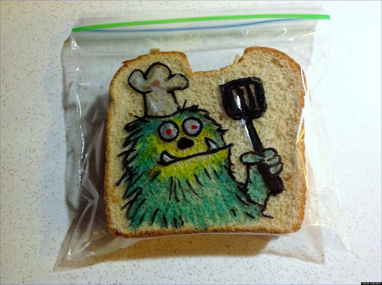 David Laferriere S Sandwich Art Dad Decorates Kids