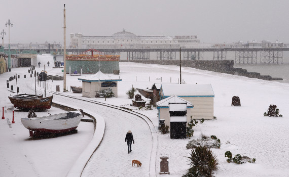brighton the snow