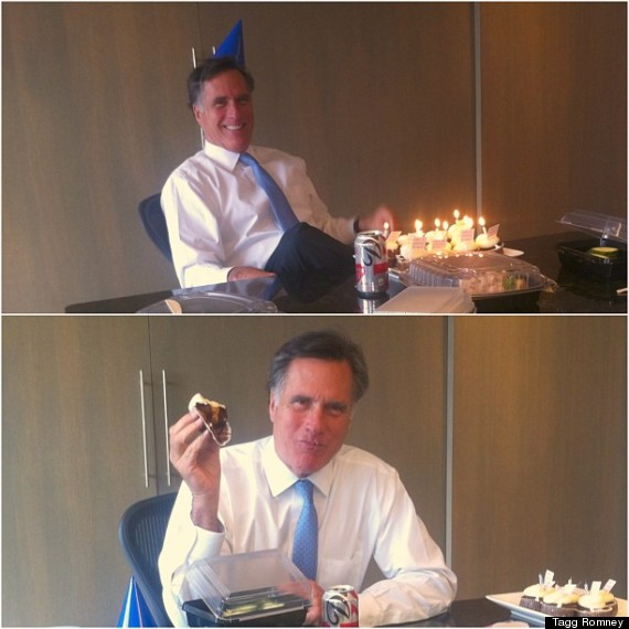 Mitt Romney Celebrates 66th Birthday Noms On Cupcake