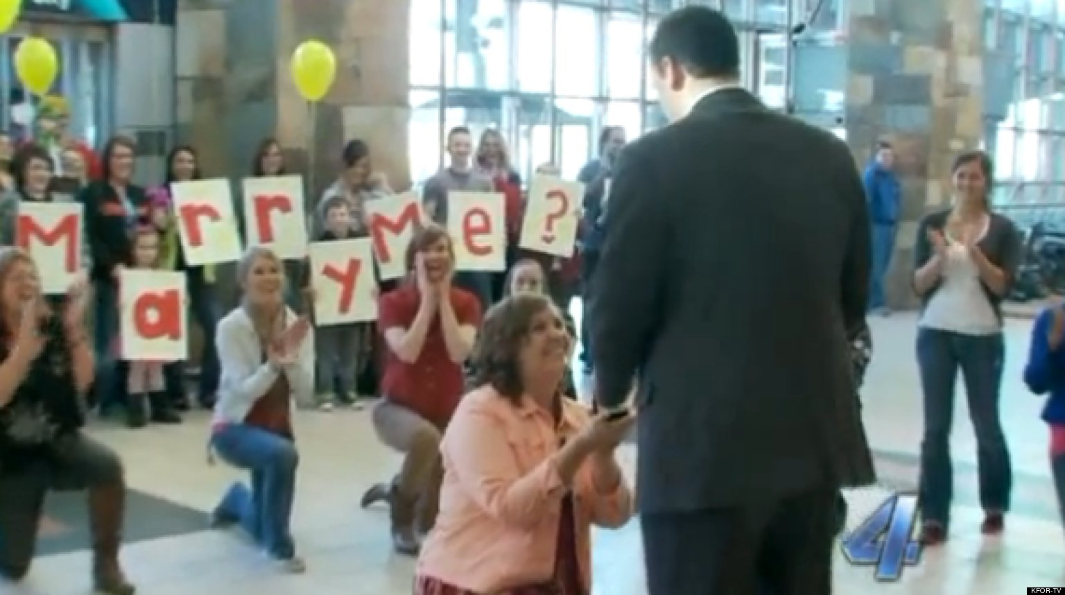 Flash Mob Marriage Proposal: Woman Pops The Question To ...