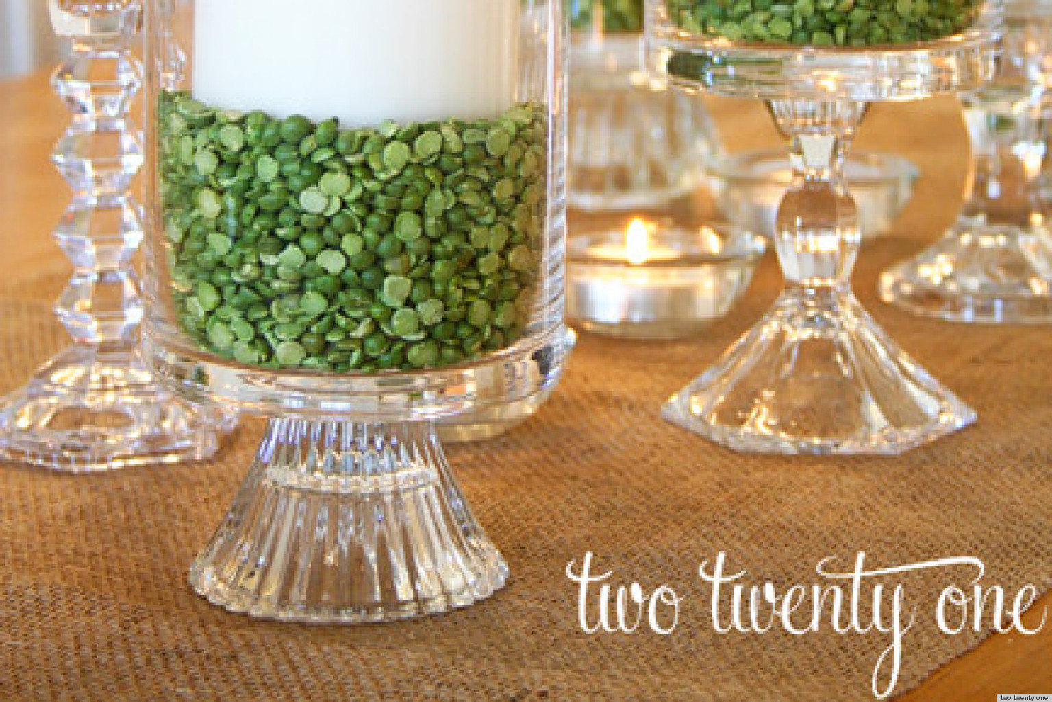St Patricks Day Ideas Make A Candle Centerpiece With