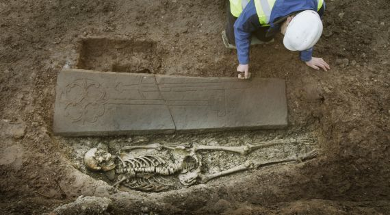 knights grave found under car park