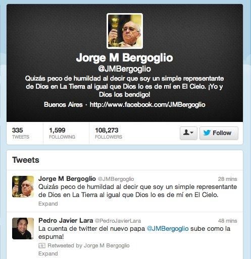 fake pope twitter