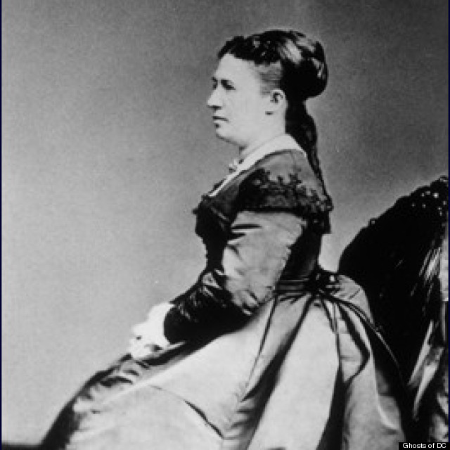 julia grant in 1860s dress