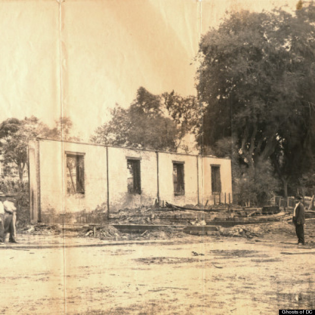 view of destroyed arsenal building
