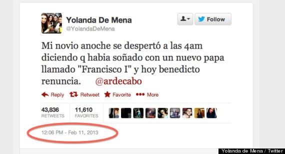 sueño premonitorio francisco i twitter