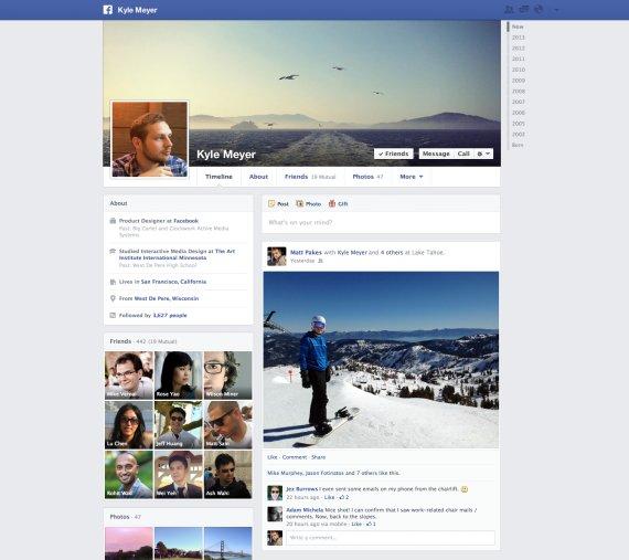 nouvelle timeline facebook