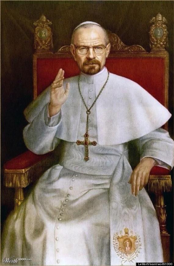 pope heisenberg bryan cranston
