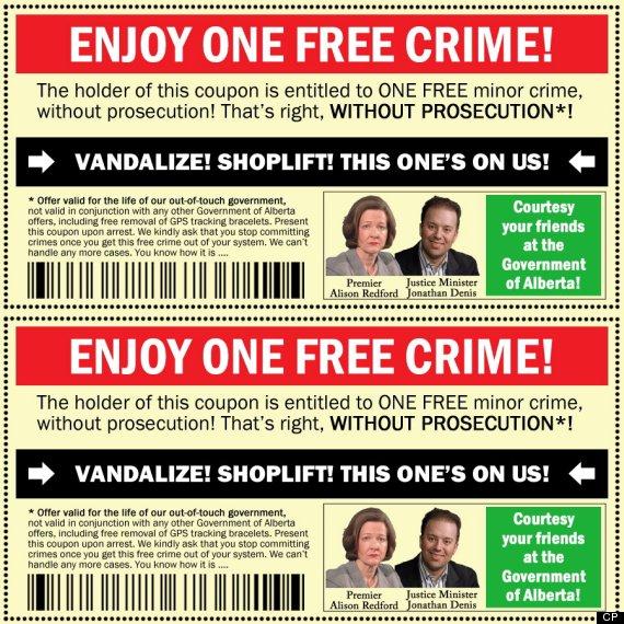 crime coupon alberta