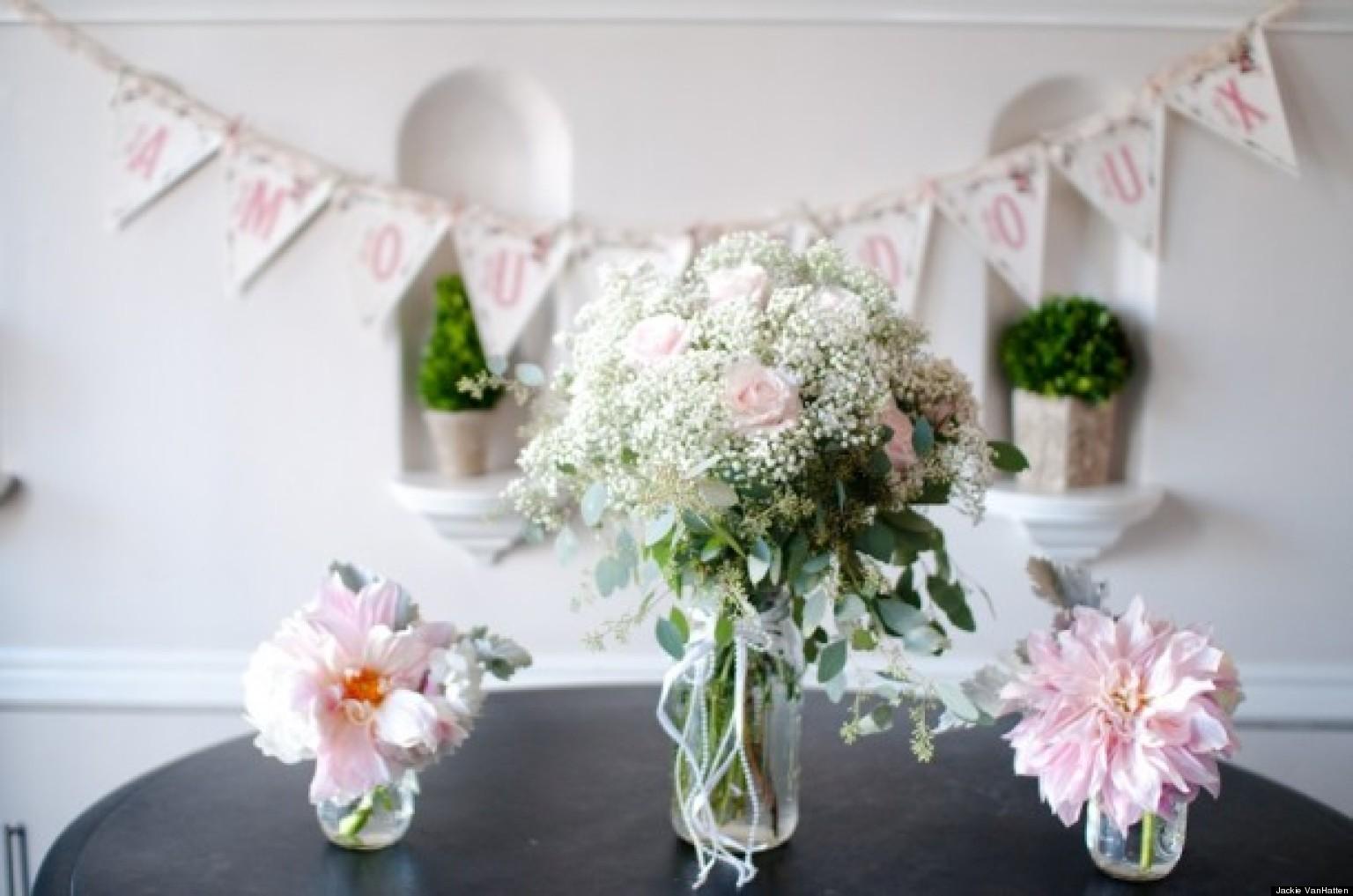 wedding flowers 4 centerpieces for your bridal shower photos. Black Bedroom Furniture Sets. Home Design Ideas