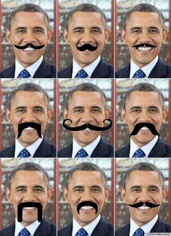 obama fake mustache