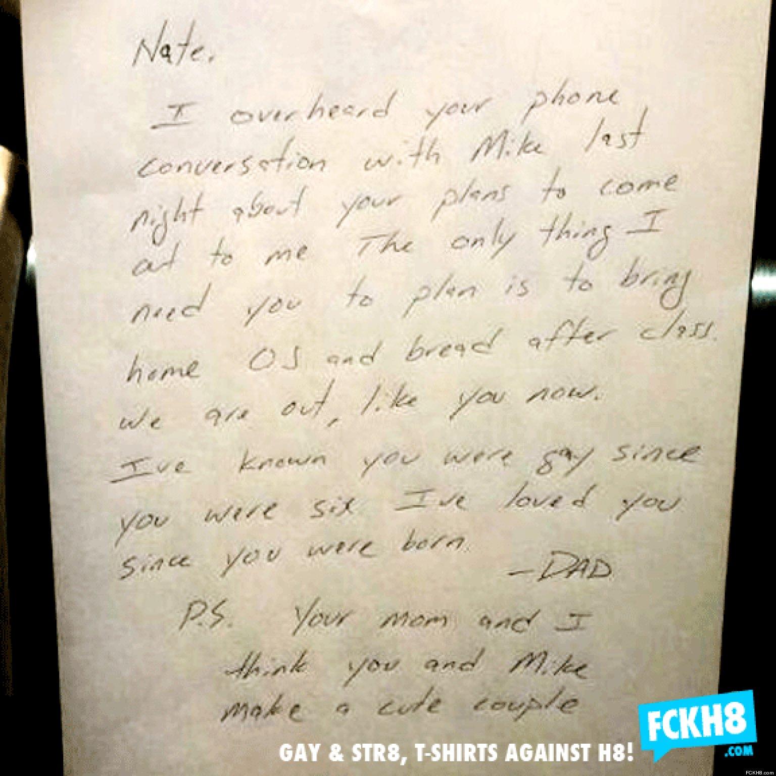 LOOK: Dad Writes Best Note Ever To Closeted Gay Son