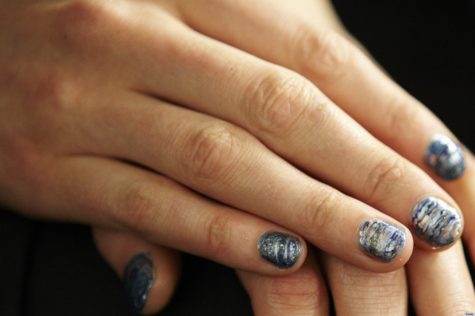 Rebecca Minkoff Fall 2013 Nails How To Get This Starry Night Manicure Photos Huffpost