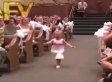 Cute Flower Girl Makes Hilarious Entrance At Wedding (VIDEO)