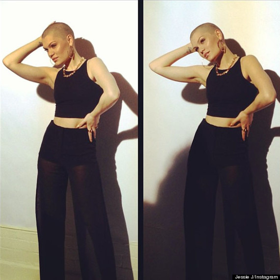 jessie j shaves head