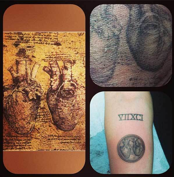 miley cyrus tattoo heart