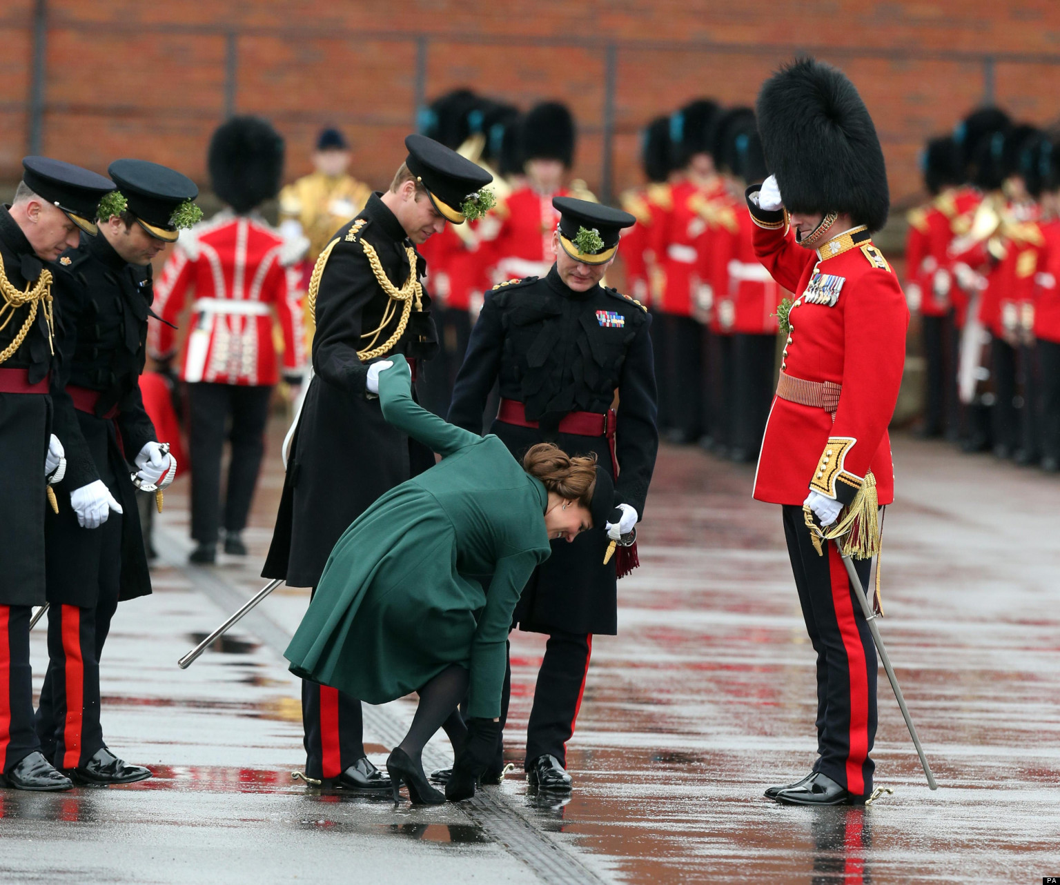 Kate middleton and prince william attend st patrick s day military