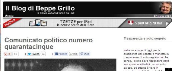 GRILLO COMUNICATO POLITICO NUMERO QUARANTACINQUE 3
