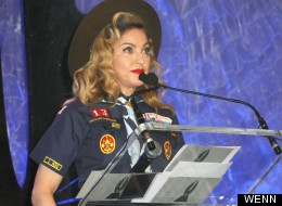 Why's Madonna Dressed As A Boy Scout?