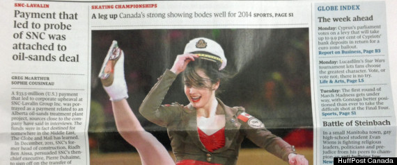 the globe and mail s photo of figure skater kaetlyn osmond is sparking