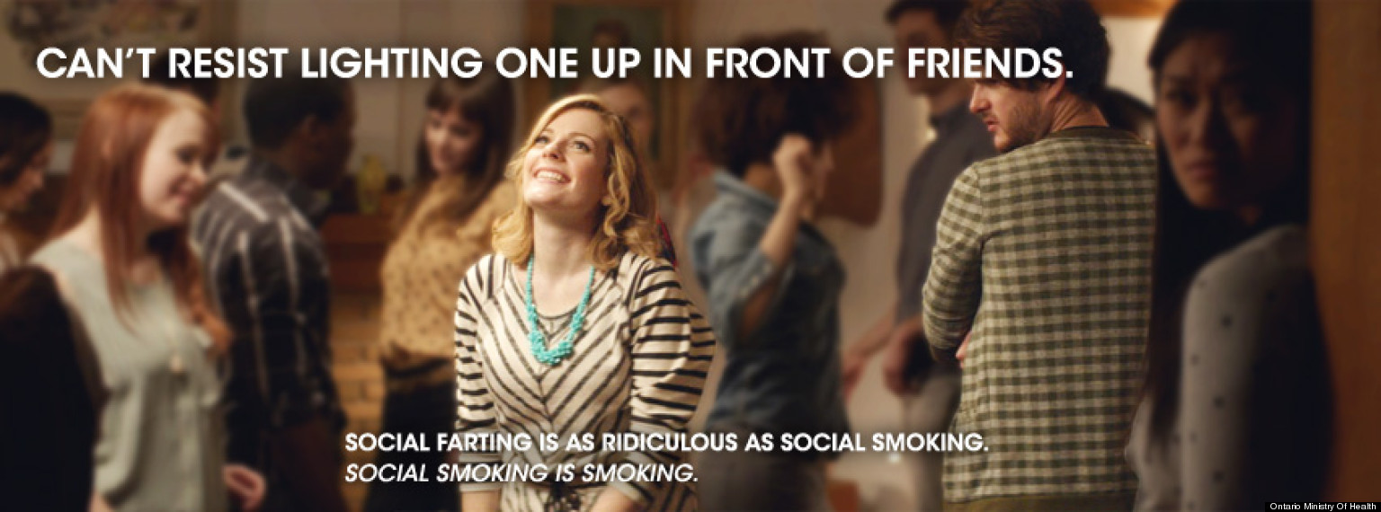 social smoking Are you one of the 12% of smokers who would classify themselves as smoking only 'occasionally' – perhaps weekly or less or maybe you see yourself as one of the 17% who describe themselves as 'social' smokers: you don't smoke at home, but you do light up when you are out with friends either way.