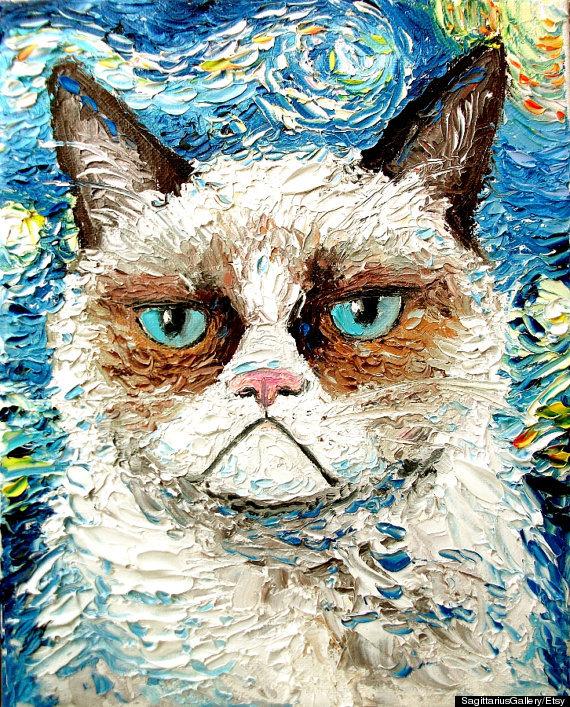 grumpy cat van gogh
