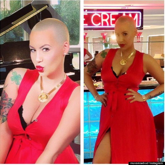 Amber Rose Shows Off Post-Baby Body In Sexy Red Dress 3 ...
