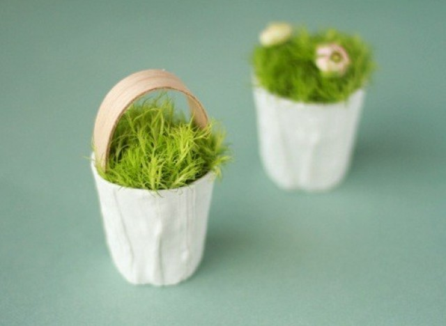 Make tiny flower baskets from votives as holiday favors photo easter ideas mightylinksfo