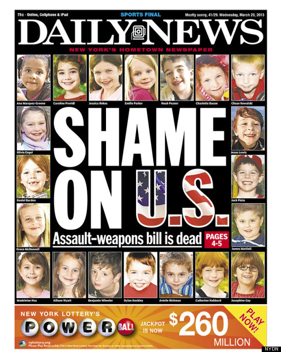 New York Daily News: New York Daily News On Assault Weapons Bill: 'Shame On U.S
