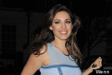 Blue Belle: Kelly Brook Is All Smiles Post Celebrity Juice Appearance