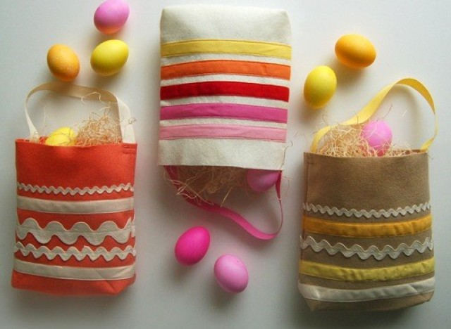 easter ideas make lovely diy bags to collect your egg hunt findings