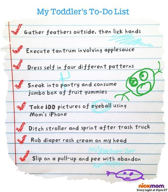 toddler todo list