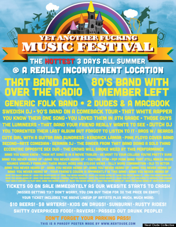 neat dude collective music festival poster