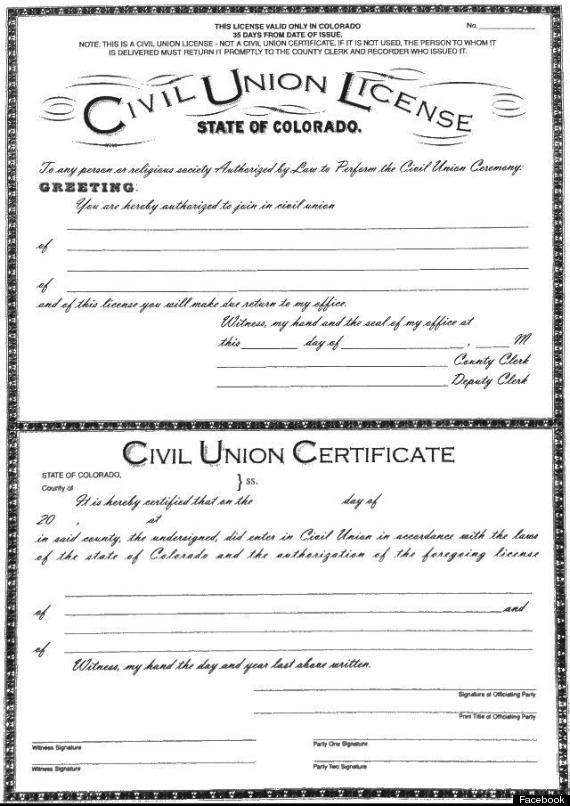 civil unions colorado