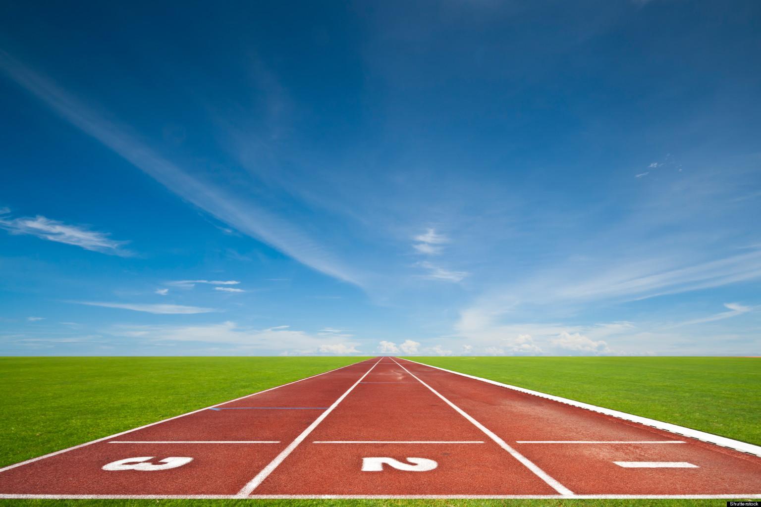 Running track background