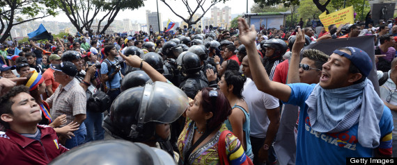 CHAVEZ SUPPORTERS CLASH WITH STUDENTS