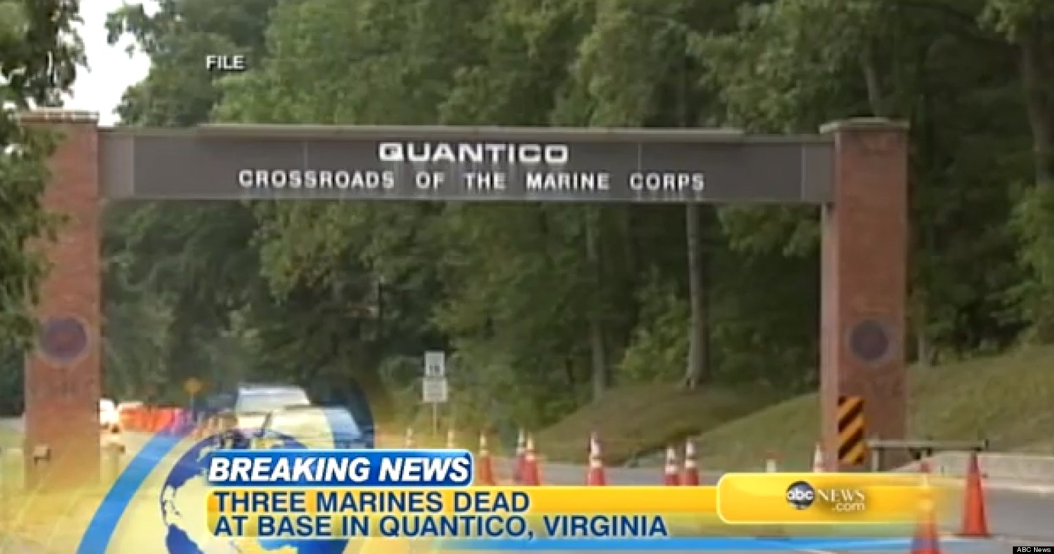 Quantico Shooting 3 Dead Including Suspected Gunman On Marine Base In Virginia Video Huffpost