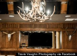 Need 31 Screens, And Antler Chandeliers, For March Madness?
