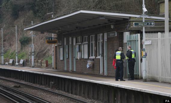 police at riddlesdown railway station