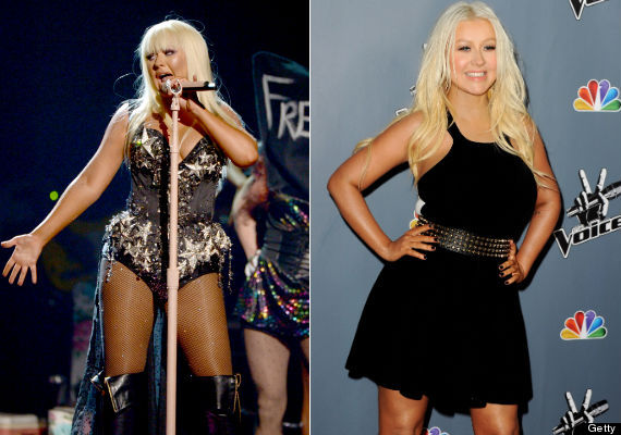 Christina Aguilera Weight Gain 2013