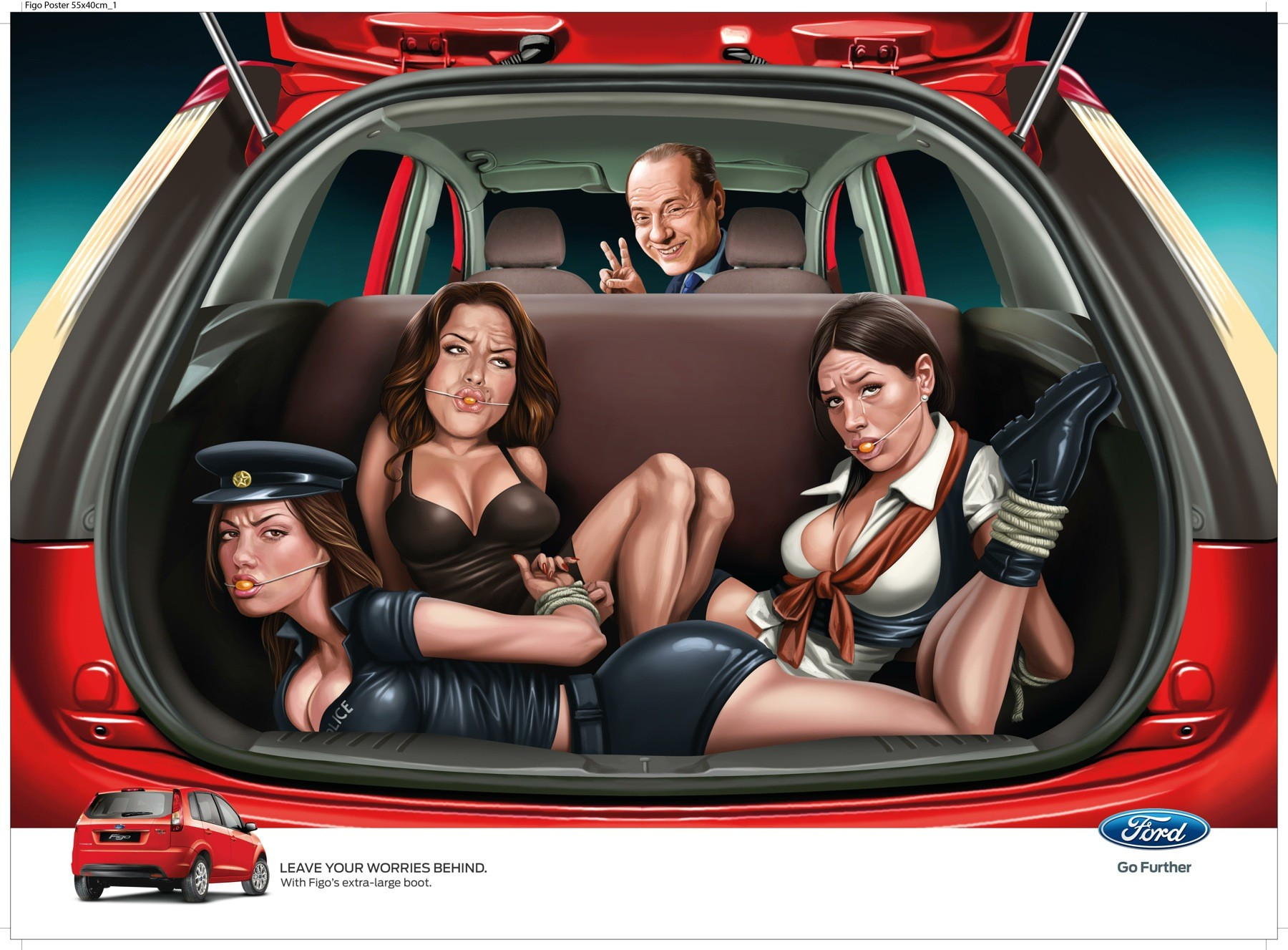 #WhatWereTheyThinking: Ad agency apologises for disturbing car advert showing gagged & bound women (LOOK)