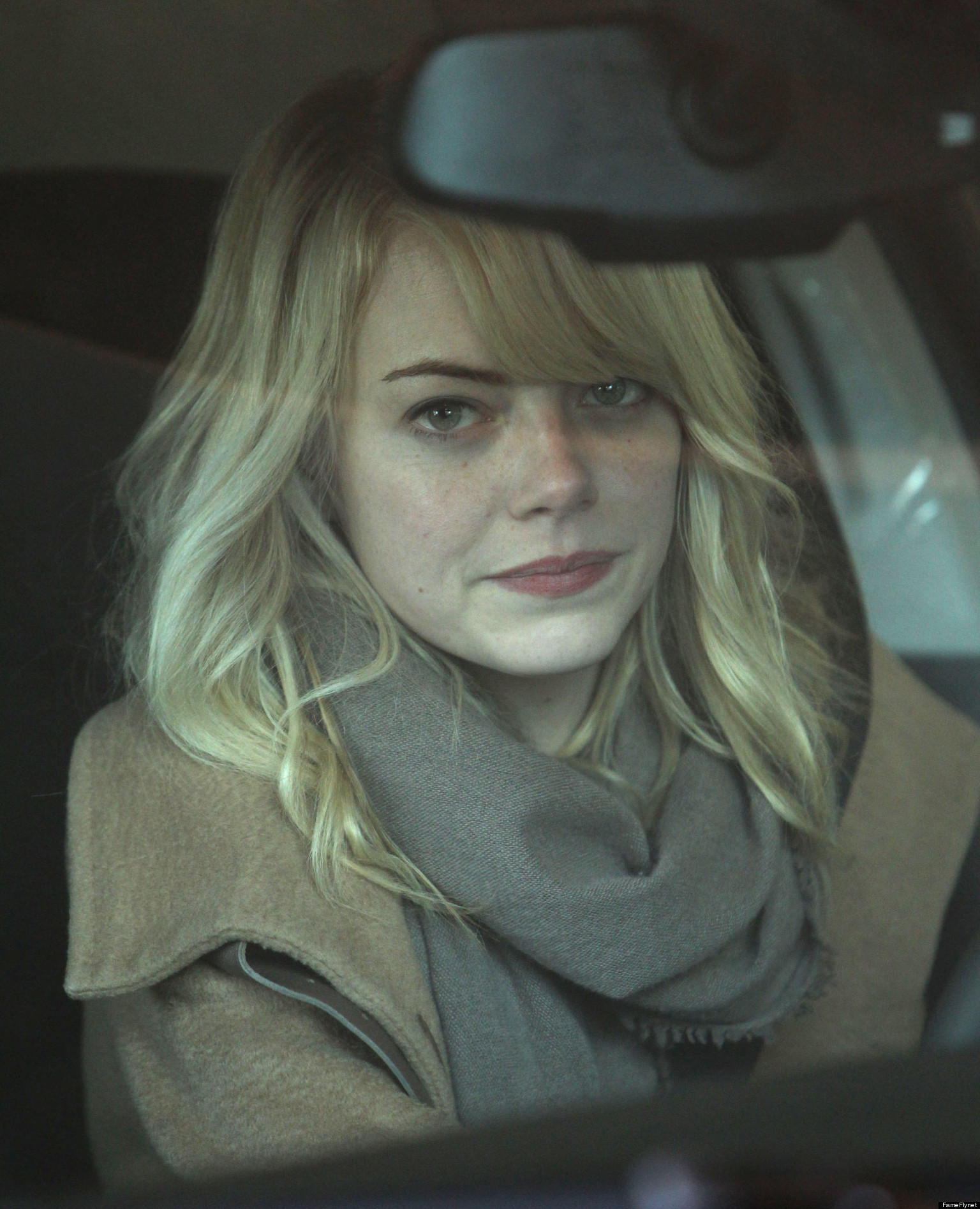 emma stone  makeup free and beautiful in boston  photo